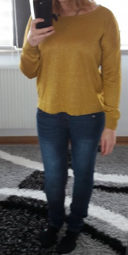 Pullover Reißverschluss Vila by Vero Moda Gr. M 38 Strick Pulli Over Size Gold