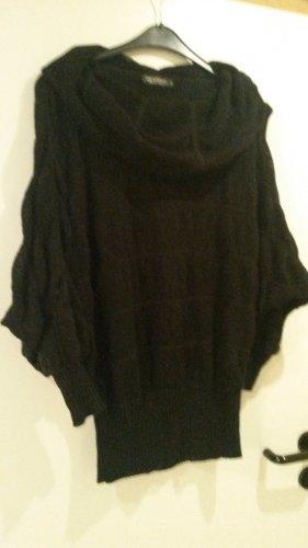 Vestino Maglione lavorato a maglia nero Lana