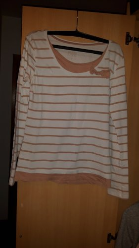 Pullover rosa-weis
