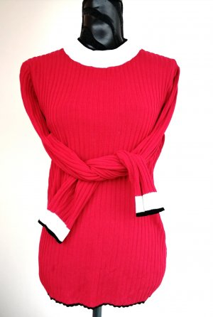 Pullover rot Gr 42 Rippe Stretch