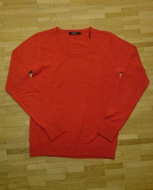 Pullover rot rundhals superweich Kaschmir von Assuli Gr. 36