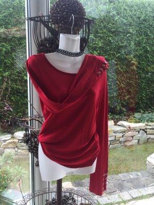 Pullover Rot S Nietendetails