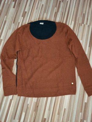Esprit Sweter bez rękawów z cienkiej dzianiny brązowy