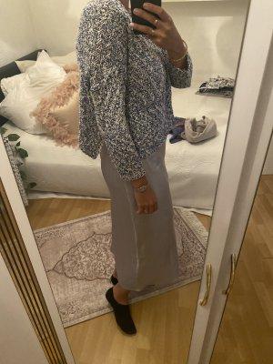 Pullover S blau Weiß cropped