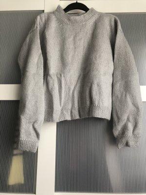 Pullover S grau blau
