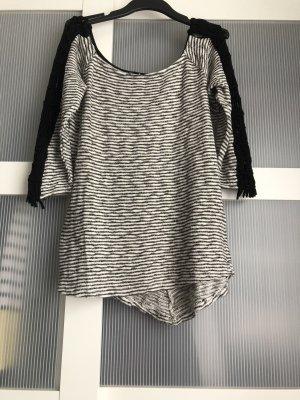 Pullover S schwarz weiss grau
