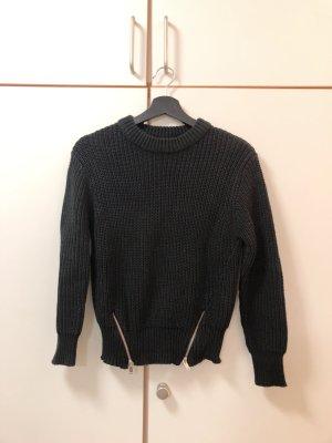 Gina Tricot Sweter z okrągłym dekoltem czarny