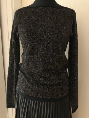 Pullover, schwarz/gold, Etro, Gr. 38 (ital. 44)