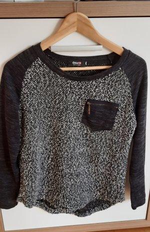Pullover schwarz grau Gr.S
