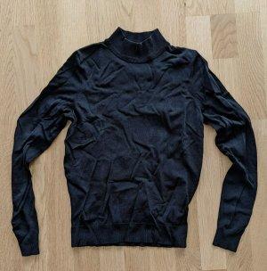 Pullover Schwarz Mockneck XS 34