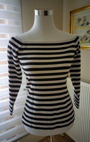 Pullover schwarz-weiß Streifenmuster