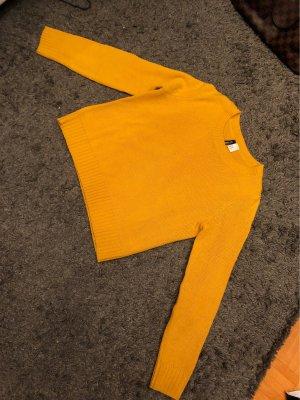 H&M Crewneck Sweater light orange-yellow