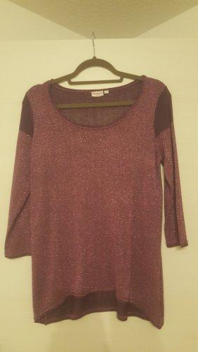 Laura Torelli Boatneck Shirt magenta