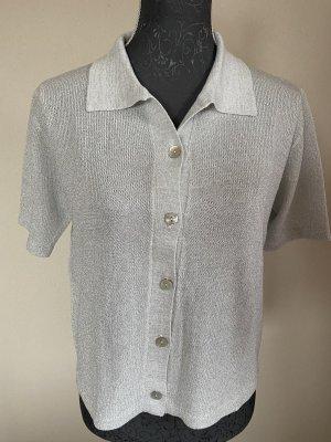 Alba Moda Gebreid shirt zilver