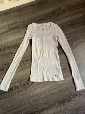 Pullover Shirt langärmelig weiß Basic abercrombie & fitch