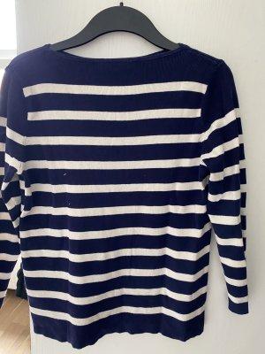 Pullover Shirt M blau weiß 38