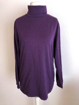 Camisa de cuello de tortuga lila-violeta oscuro