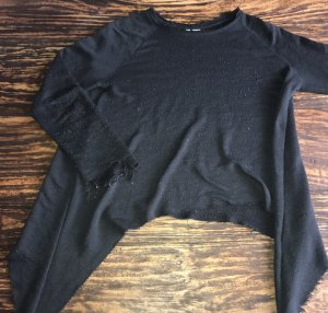 H&M Pull long gris anthracite-noir