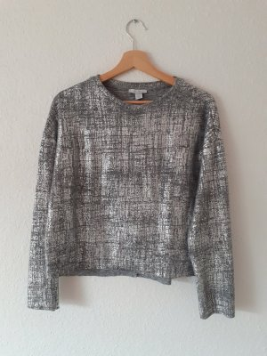 Pullover Shirt von Amisu Größe S silber