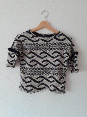 Pullover Shirt von Tally weijl Größe XS schwarz weiß