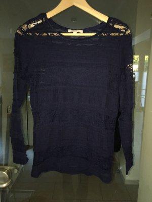 Esprit Crochet Sweater dark blue