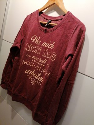 Blind Date Kraagloze sweater bordeaux
