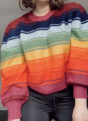 Pullover Strick Regenbogen