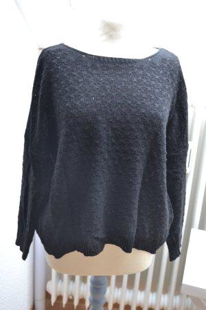 Pullover Strick Strickpullover schwarz