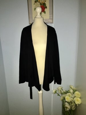 Alpha Knitted Cardigan black wool