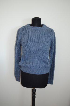 Pullover, Strickpullover, grob, hellblau