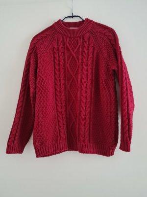 Monki Pull tricoté rouge foncé
