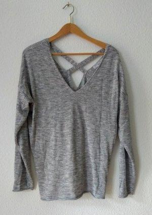 Amisu V-Neck Sweater light grey