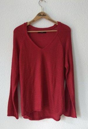 Amisu V-Neck Sweater red