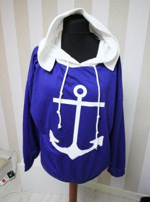 Jersey con capucha blanco-azul