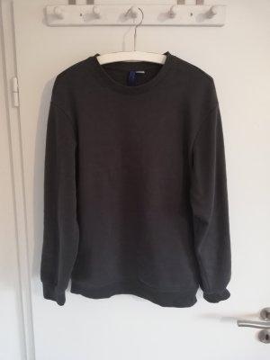Pullover Sweatshirt Hoodie 36 S H&M grau dunkelgrau anthrazit