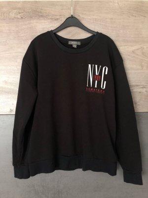 Pullover Sweatshirt New York schwarz rot S