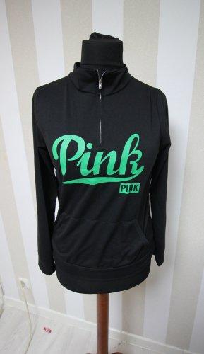 Sweatshirt noir-vert
