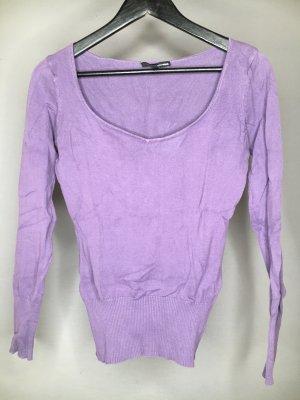 Pullover Tally Weijl lila mit U-Ausschnitt
