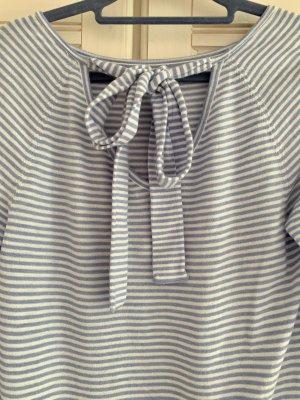 (The Mercer) NY Pull tricoté blanc-bleu azur