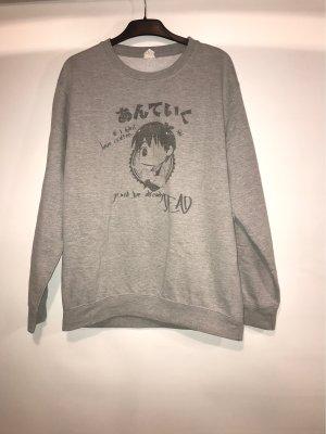 Długi sweter jasnoszary-szary