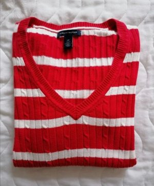 Pullover Tommy Hilfiger S rot weiß
