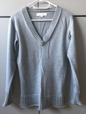 Aygill's Pull col en V gris clair coton