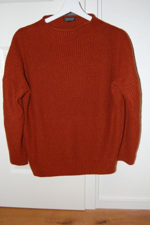 Topshop Knitted Sweater russet mixture fibre