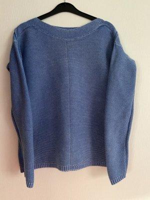 Long Cardigan cornflower blue-blue cotton