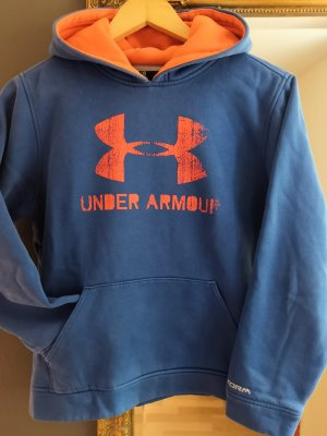 Under armour Maglione con cappuccio arancione-blu acciaio