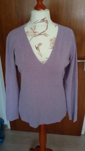 TCM Jersey con cuello de pico púrpura Seda