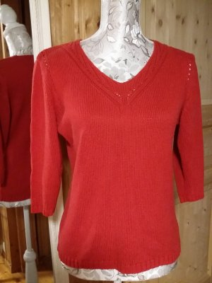 Biaggini V-Neck Sweater red cotton
