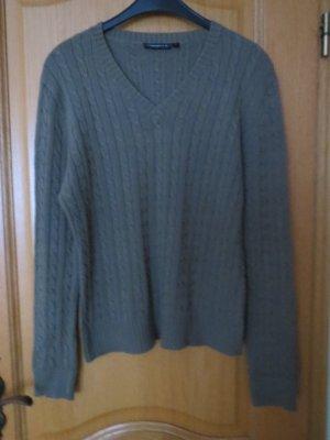 Pullover, V-Ausschnitt, Gr.M/L, oliv
