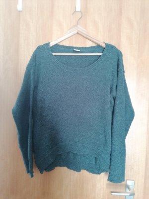 Vero Moda Sweter oversize ciemnozielony-leśna zieleń