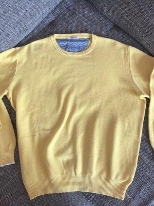 Sweter oversize bladożółty